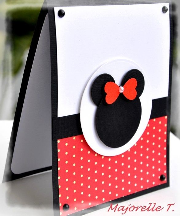 mini mini une carte minnie cartes fait maison perforees pinterest cartes anniversaires. Black Bedroom Furniture Sets. Home Design Ideas