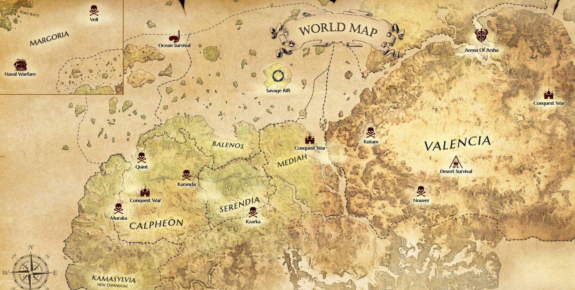 Black Desert World Map black desert world map