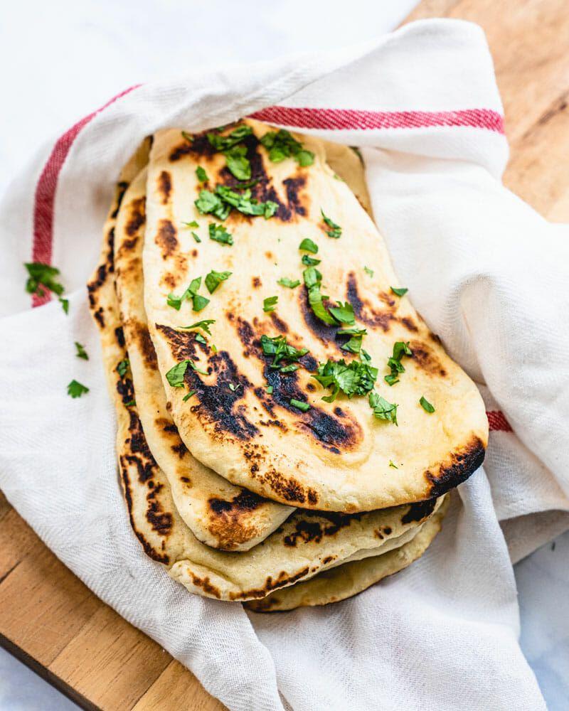 Vegan Naan Fast Easy Recipe Homemade Naan Bread Cooking