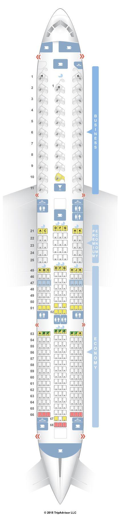 Virgin A380 Seating Plan