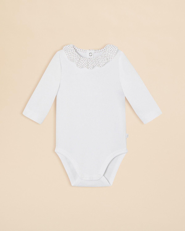 fbd9479a8318 Jacadi Infant Girls  Polka Dot Ruffle Collar Bodysuit - Sizes 3-12 ...
