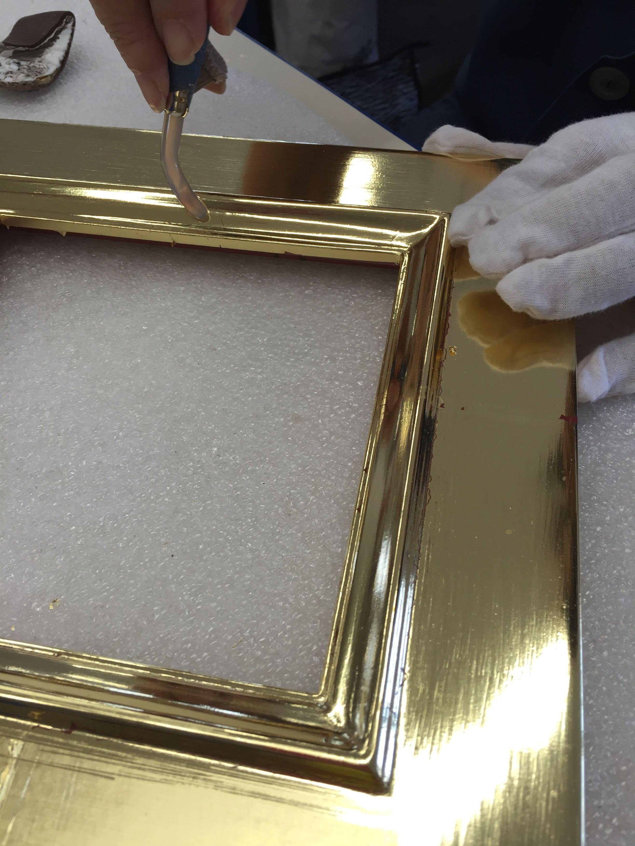 Burnishing Gold Leaf Antique Picture Frames Custom Picture Frame Picture Frames