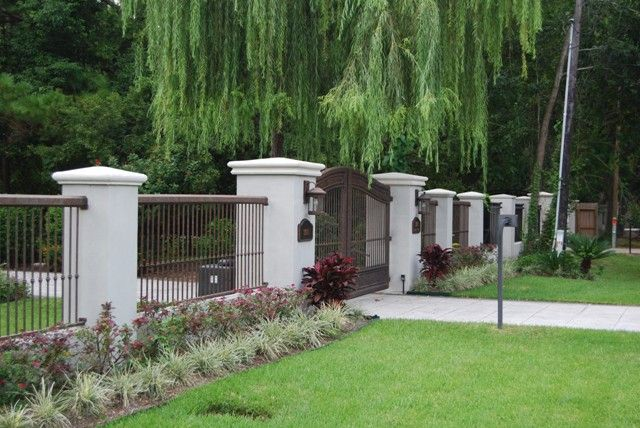 Residential wrought iron fencing fence in