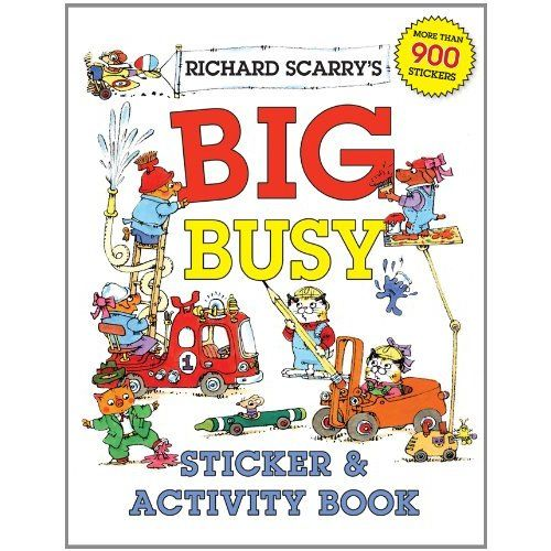 Amazon.com: Richard Scarry's Big Busy Sticker & Activity Book ...