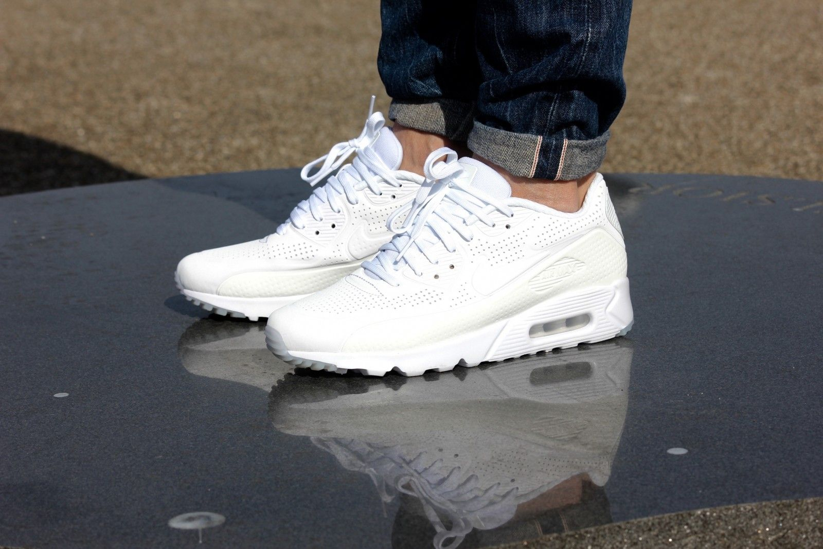 384e03bf Nike Air Max 90 Ultra Moire Triple White - 819477-111 | Sneakers n ...