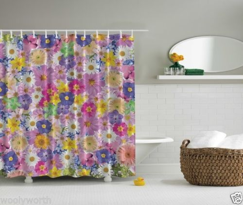 Shower Curtain 3d Hologram Affect Classy Tailored Made 3790 Daisy