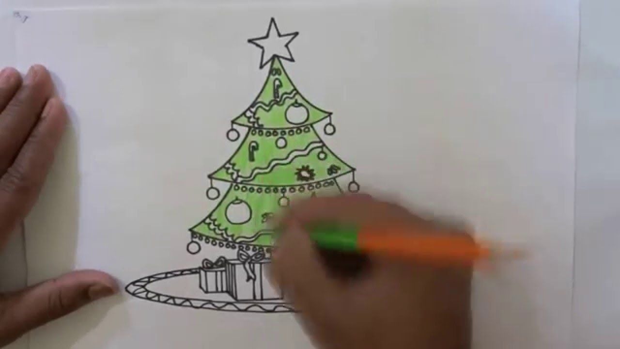 How To Draw A Beautiful Christmas Tree Beautiful Christmas Trees Beautiful Christmas Art For Kids