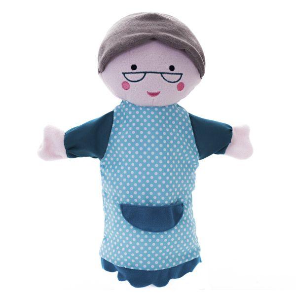 Marioneta abuelita | Marioneta, Caperucita roja y La abuela