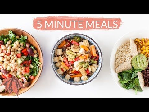 These 5 Minute Easy Vegan Recipes Are Full Of Flavor And Nutrition These Balanced 5 Minute Vegan Recipes Are Great Fo In 2020 Vegan Recipes Easy Vegan Recipes Recipes
