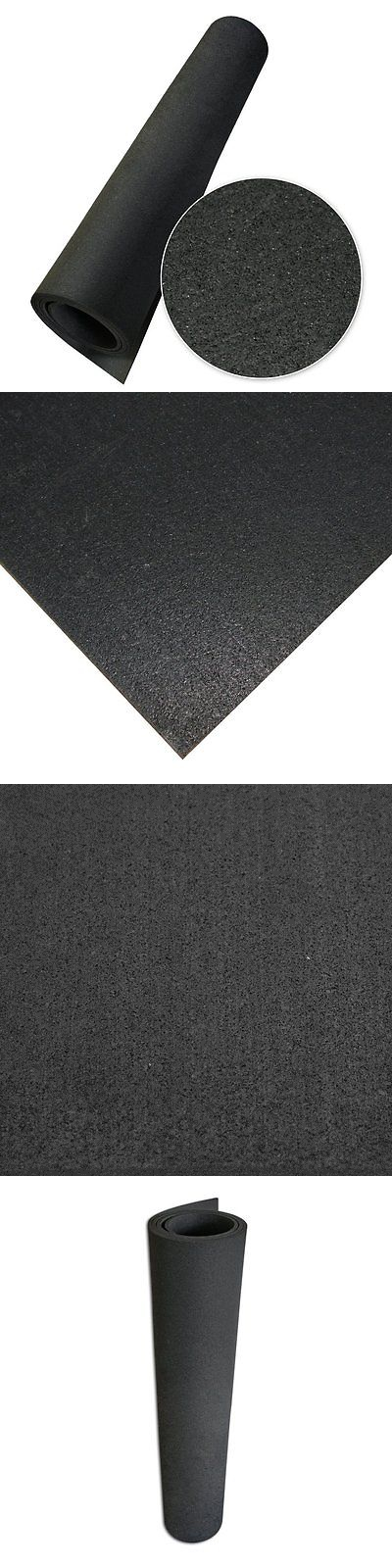Exercise Mats 44079 Rubber Cal Recycled Floor Mat, Black, 1 4-Inch