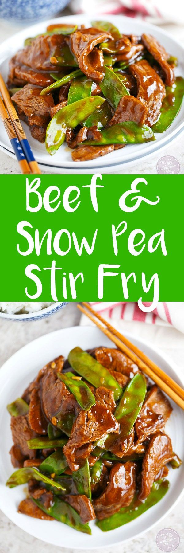 Short on time? This 25-minute beef and snow pea stir fry is the perfect weeknight dinner option! #chinesemeals
