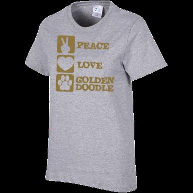 Peace Love Goldendoodle - Ladies T-Shirt