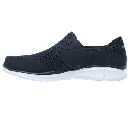 Skechers Men s Equalizer Persistent Memory Foam Slip On Sneakers (Navy) -  10.5 M 7be2b7748a