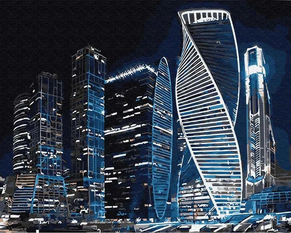 Картина по номерам «Москва-Сити»   Картины, Пейзажи, Москва