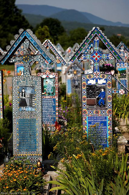 The Merry Cemetery in Săpânţa, Maramureş county, Romania - I so want to go there some day!