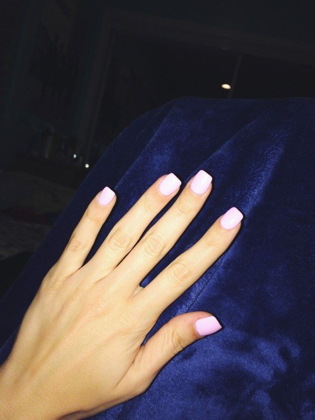 ️ Acrylic Nails Pink Square Squoval Short Trendler