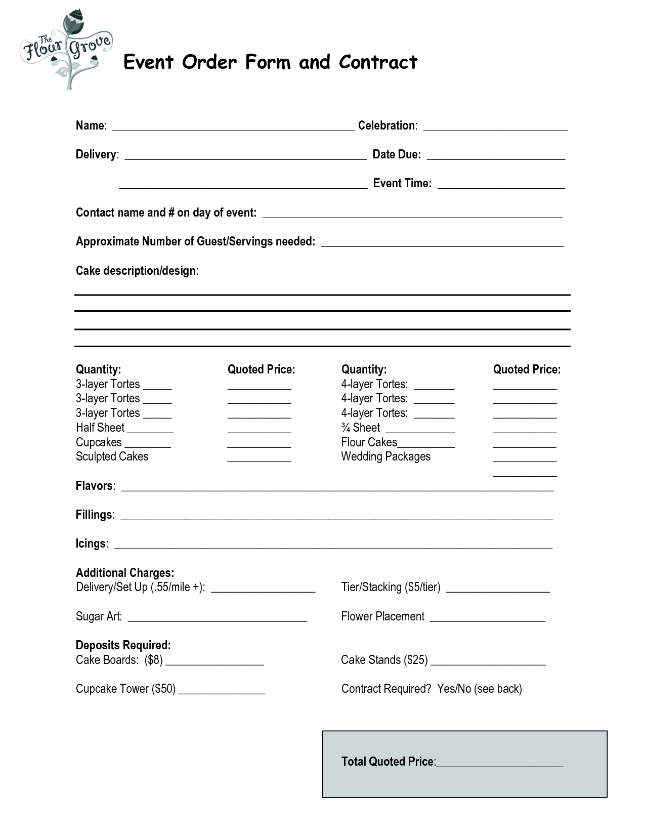 Doc.#585400: Event Agreement Template – Event Contract Template 18 ...