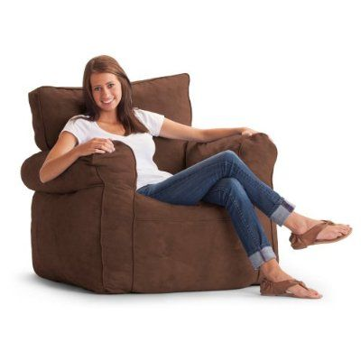 Lovely Comfort Research Original FUF Chair Ultimate Microsuede Bean Bag Chair,  Chocolate, Microsuede