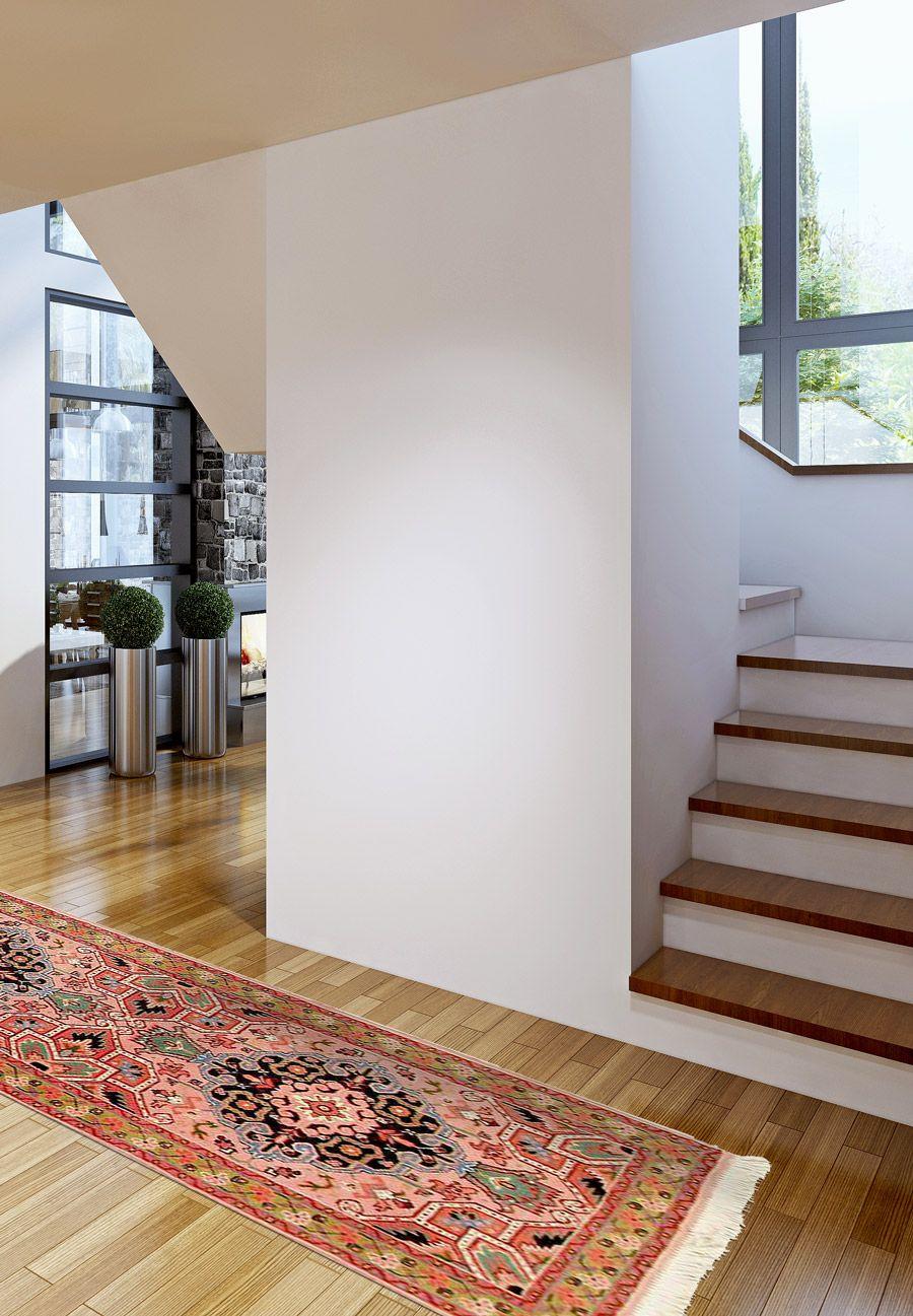 Pinker Heriz Teppichlaufer Fur Den Eingangsbereich Ein Echter