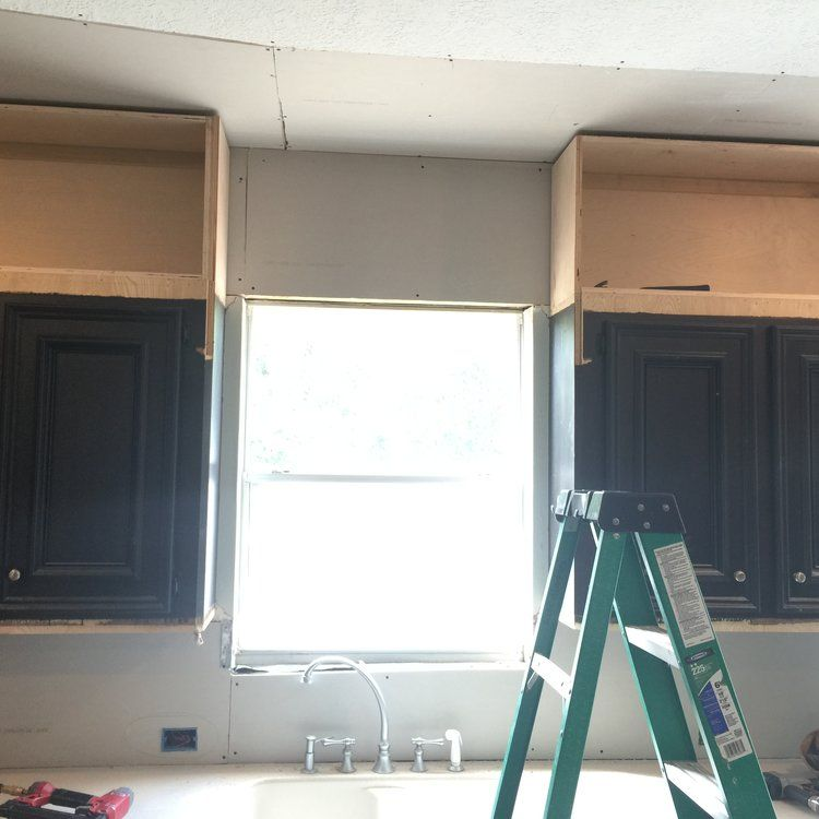 Take Your Kitchen Cabinets To The Ceiling - Kitchen cabinets to ceiling, Diy kitchen cabinets build, Cabinets to ceiling, Above kitchen cabinets, Diy kitchen cabinets, Cabinets to go - I'm working on a kitchen remodel right now that is going to be such a great improvement for this homeowner  Come and take a peek