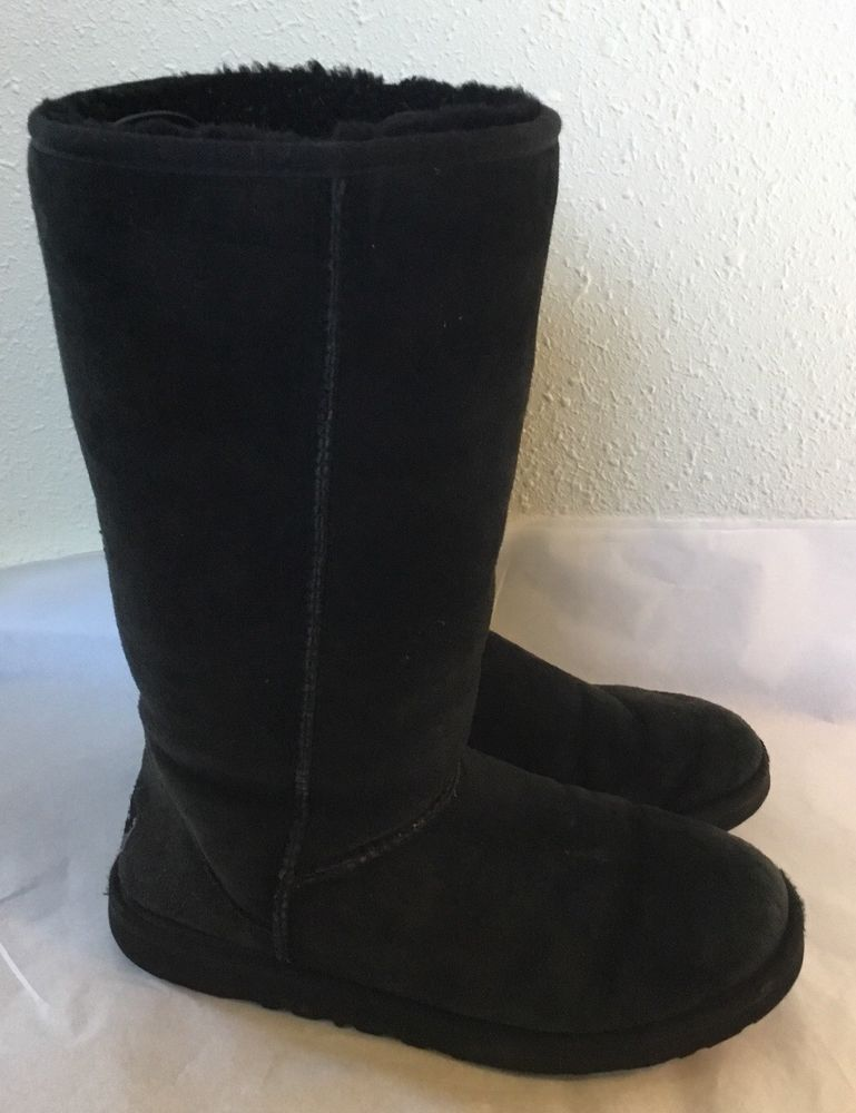 41d50a9a9e1 Black Classic Tall 5815 Auth UGG Boots Womens Size 9 UGGS #fashion ...