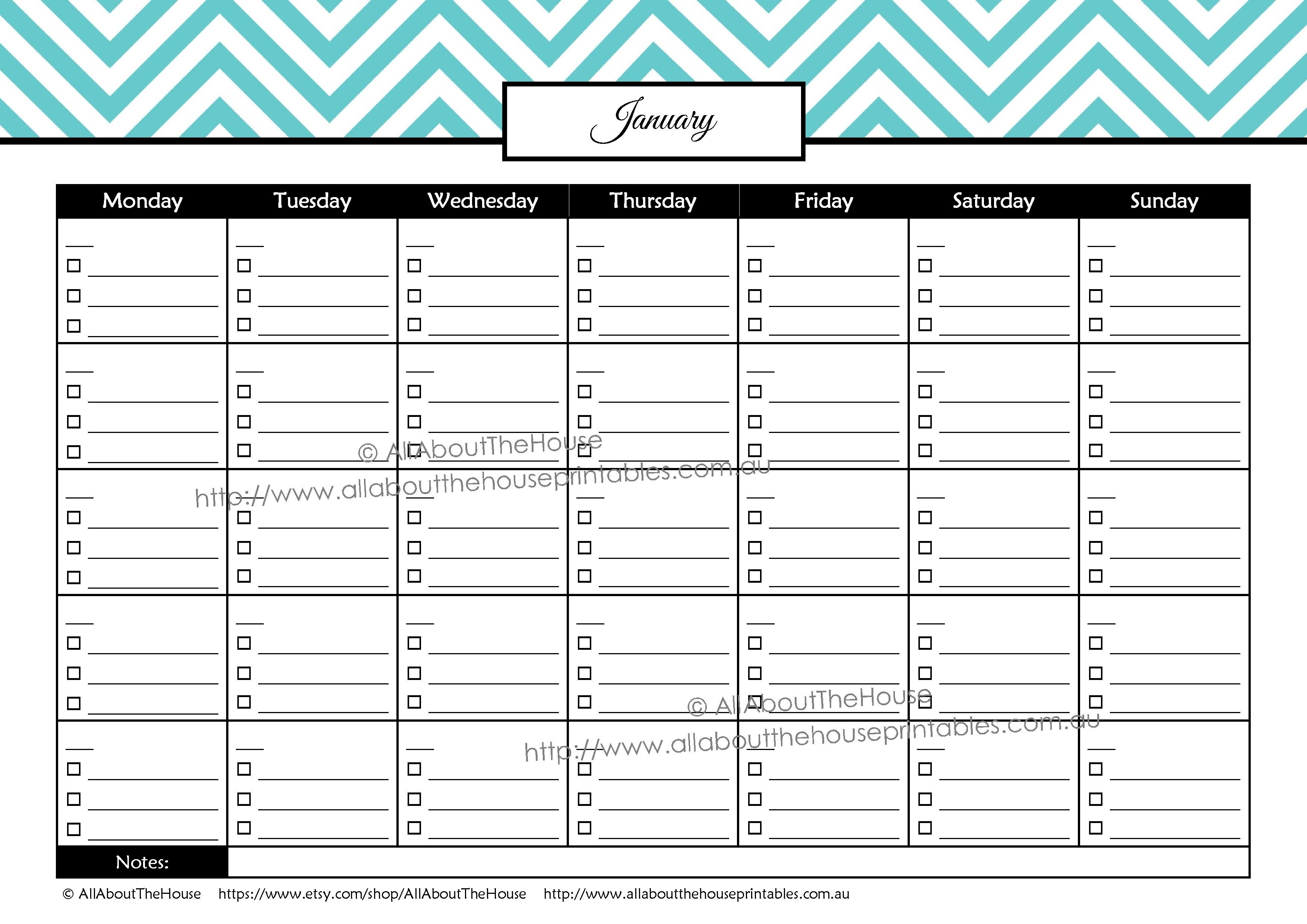 Collect Blank Printable Bill Payment Planner
