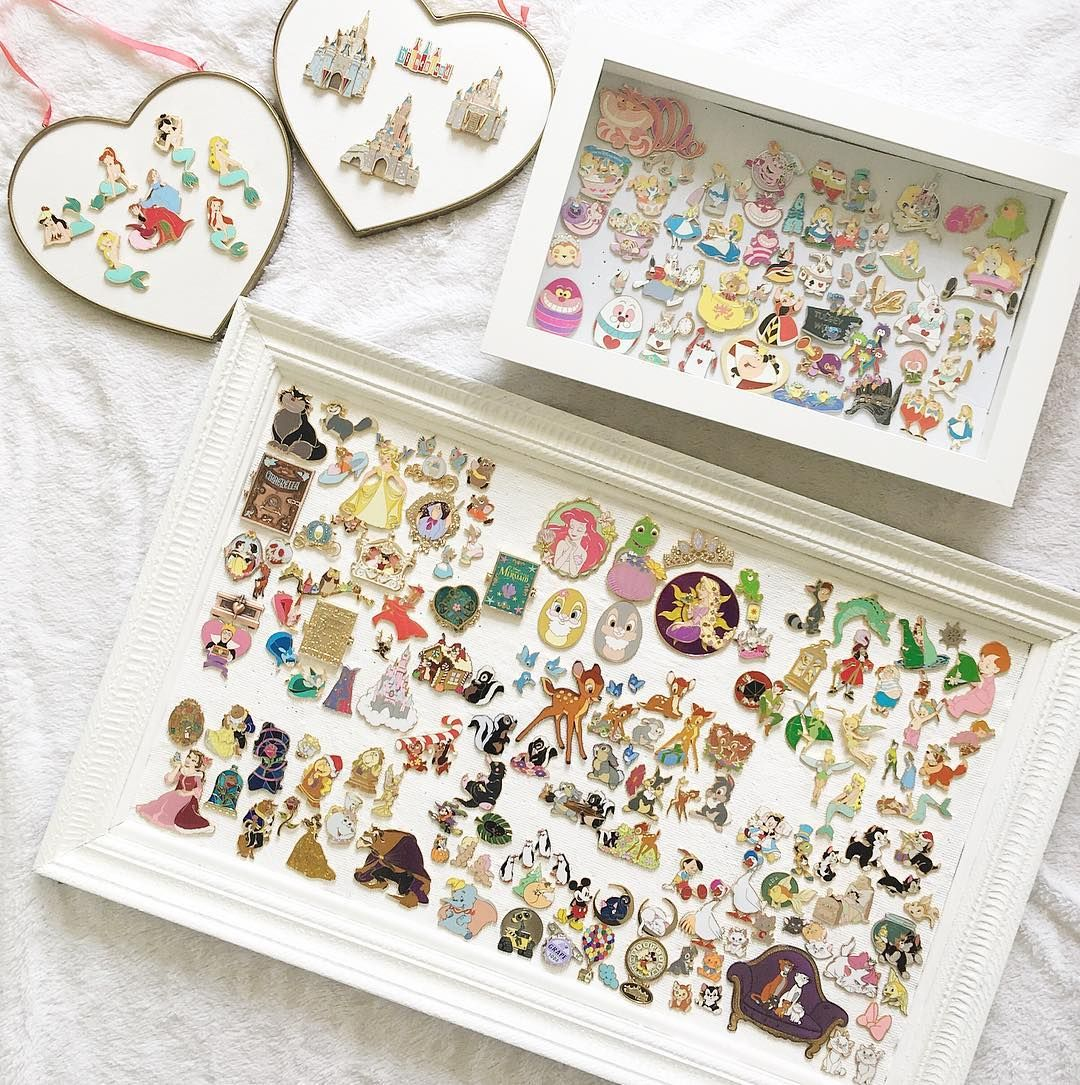 disney pin collection - love the white frame and the white ...
