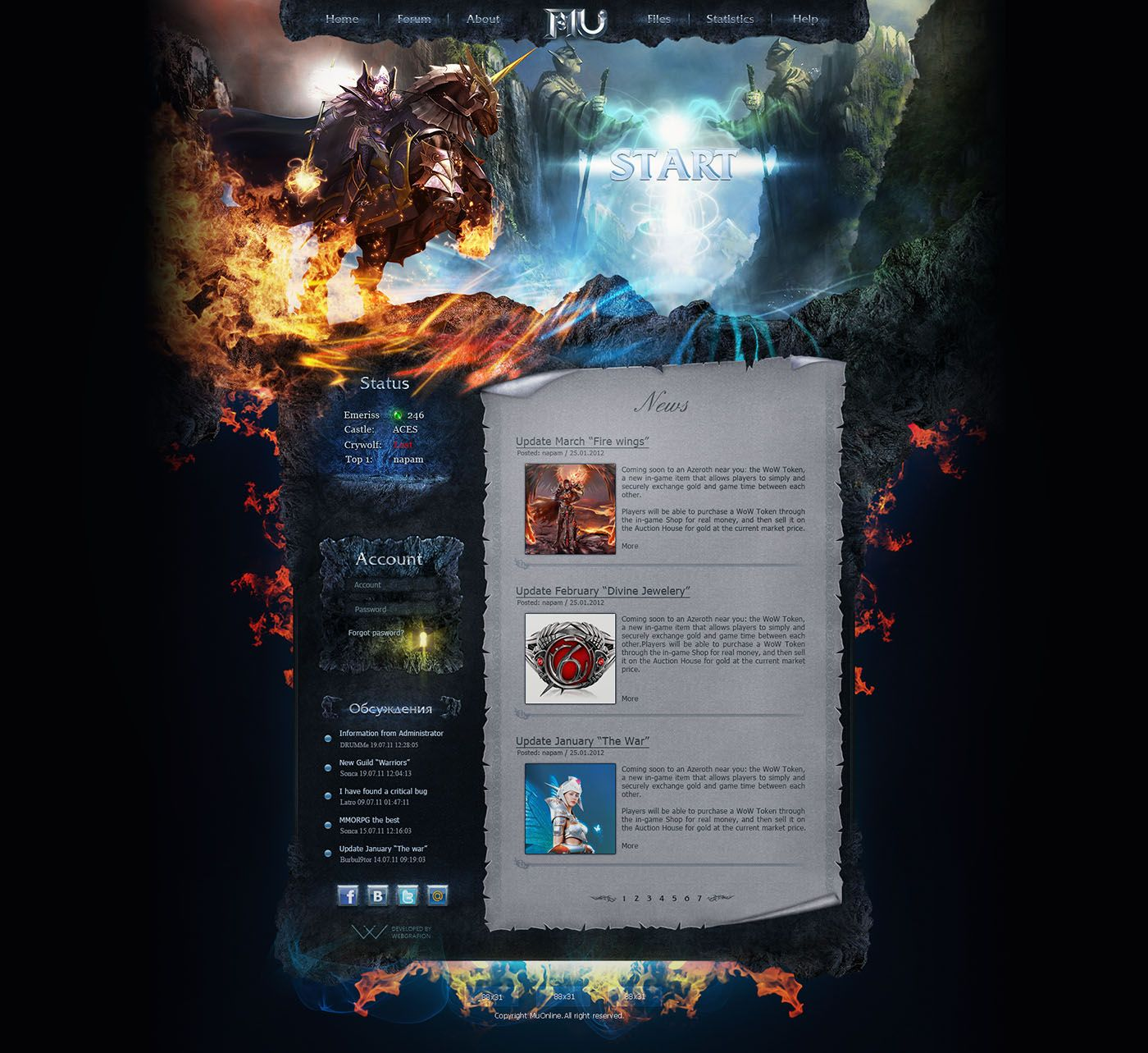 Mystic Game Website Template | Fantasy Web Templates | Pinterest ...