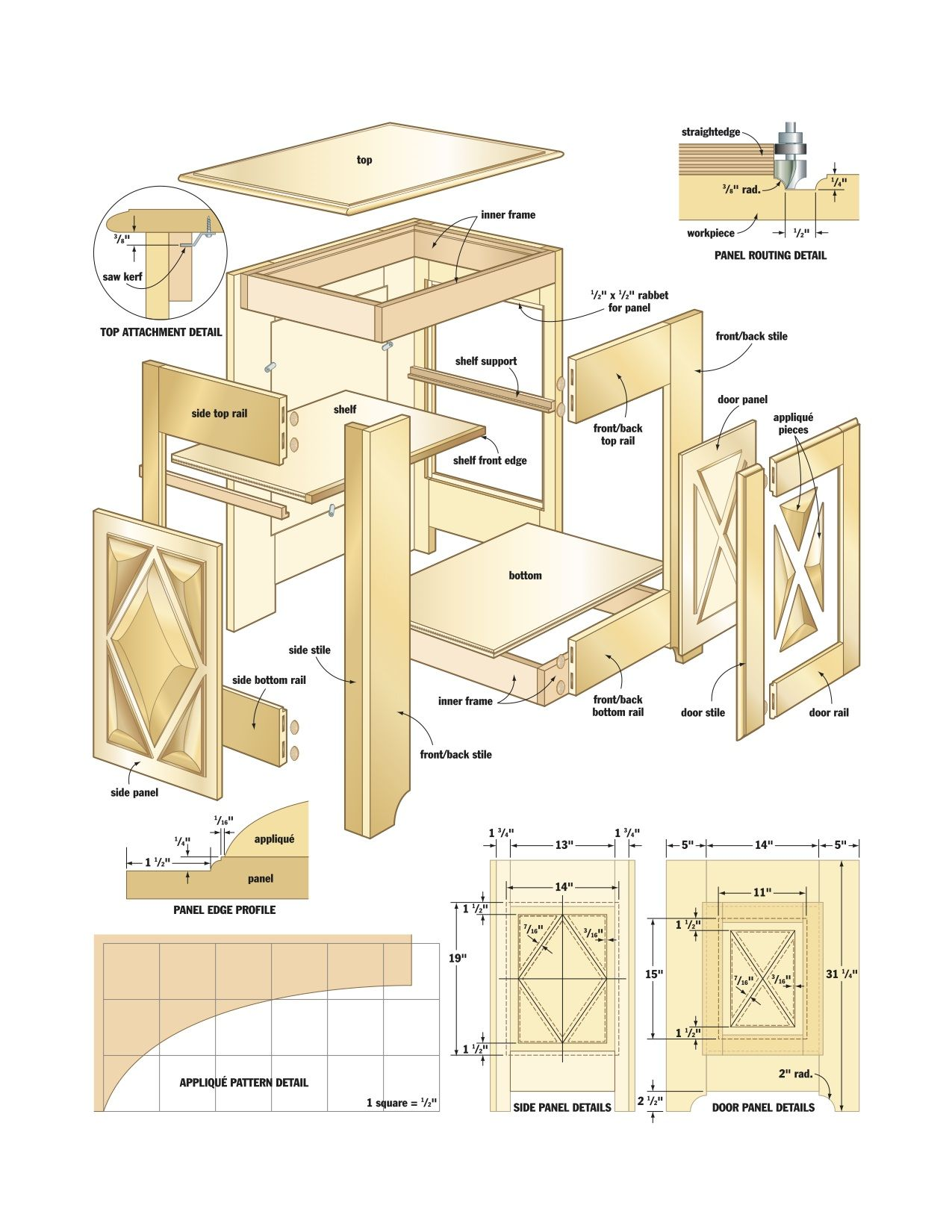 French Canadian Cabinet DIY Furniture Pinterest Bois