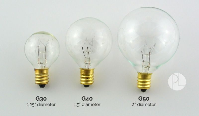 Bulb Socket Size Comparison Guide From Partylights Com Light Bulb Vase Light Bulb Diy Light Bulb