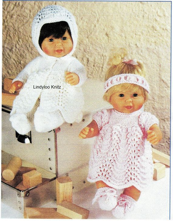 PDF Knitting Pattern Dolls Clothes 12 inch 30 by LindylooKnitz ...