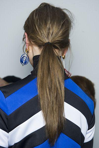 Loose ponytail by Eugene Souleiman at MSGM AW15 #SpeakEIMI