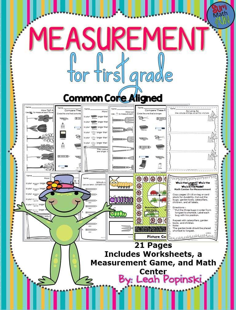 Measurement Worksheets: First Grade Nonstandard Activities ...