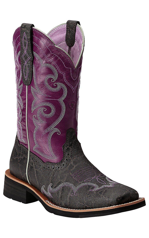 Purple Ariat boots!!!!!!! | Style | Pinterest | Botas vaqueras ...
