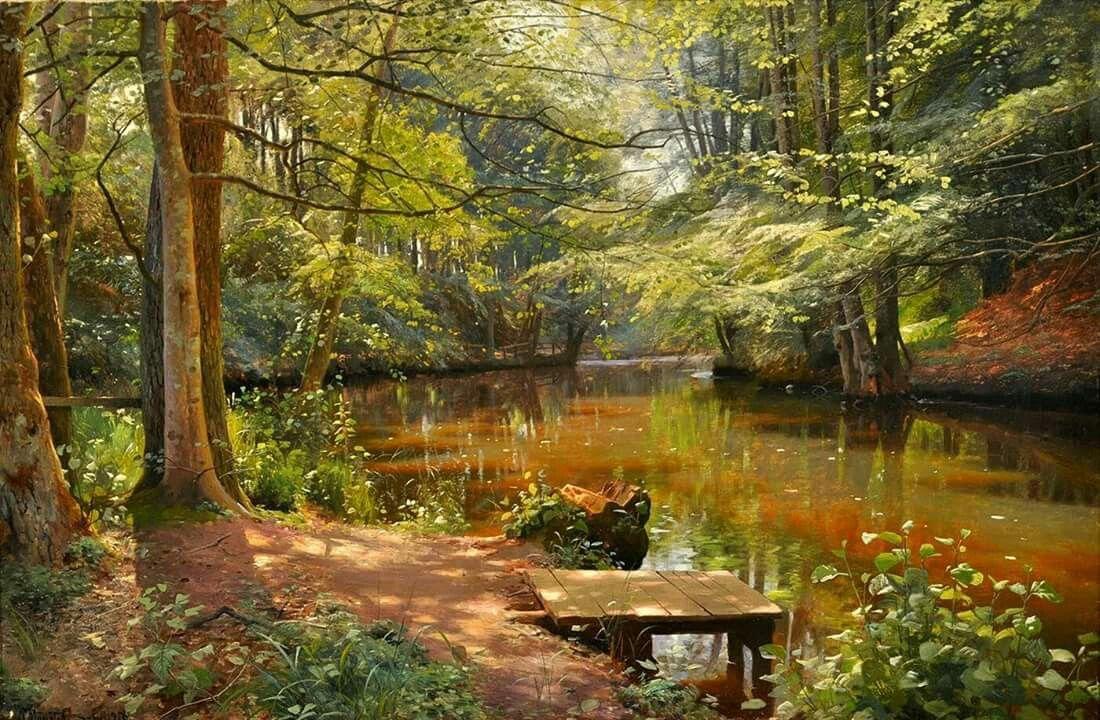 Peder Mork Monsted 1859 1941 Peinture Paysage Art Paysage Paysage