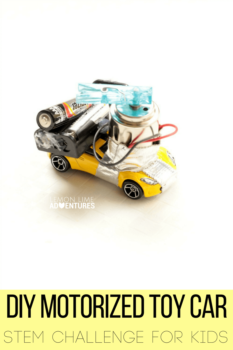 Diy Motorized Toy Car Stem Challenge For Kids Steam Remote Control Circuit Best Toys Will Have A Blast Learning About Electrical Engineering Circuits And Motors In This Can You Make Move