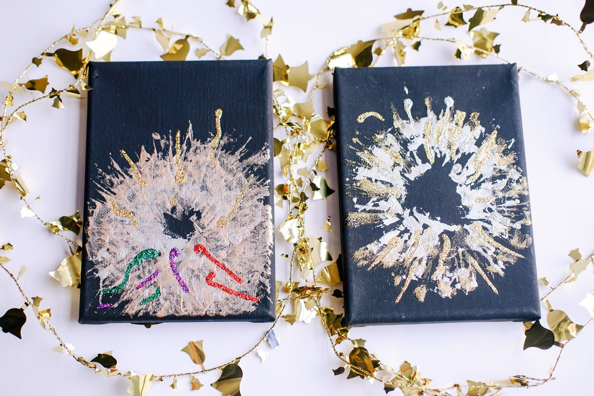 DIY New Year's Crafts New Year's Eve Fireworks Diy