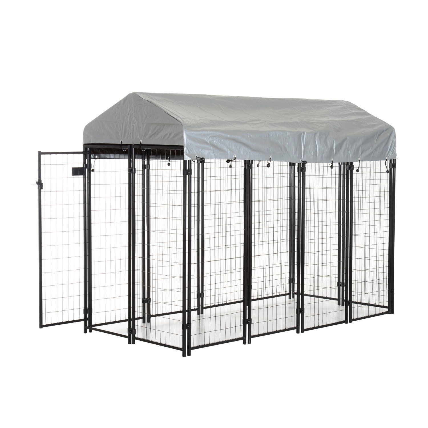 Pawhut 97 X 46 X 58 72 Outdoor Covered Dog Box Kennel Insider S Special Review You Can T Miss Read More Dog Metal Dog Kennel Dog Kennel Outdoor Dog