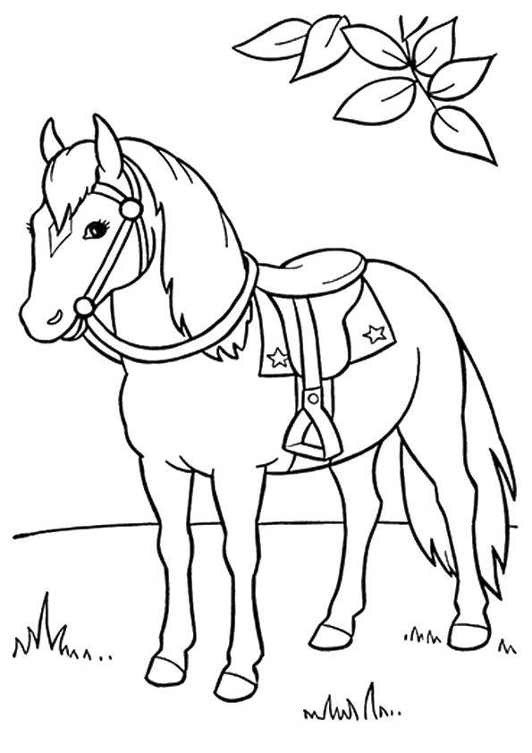 print coloring image   Mascara caballo, Caballos y Fiesta vaquera