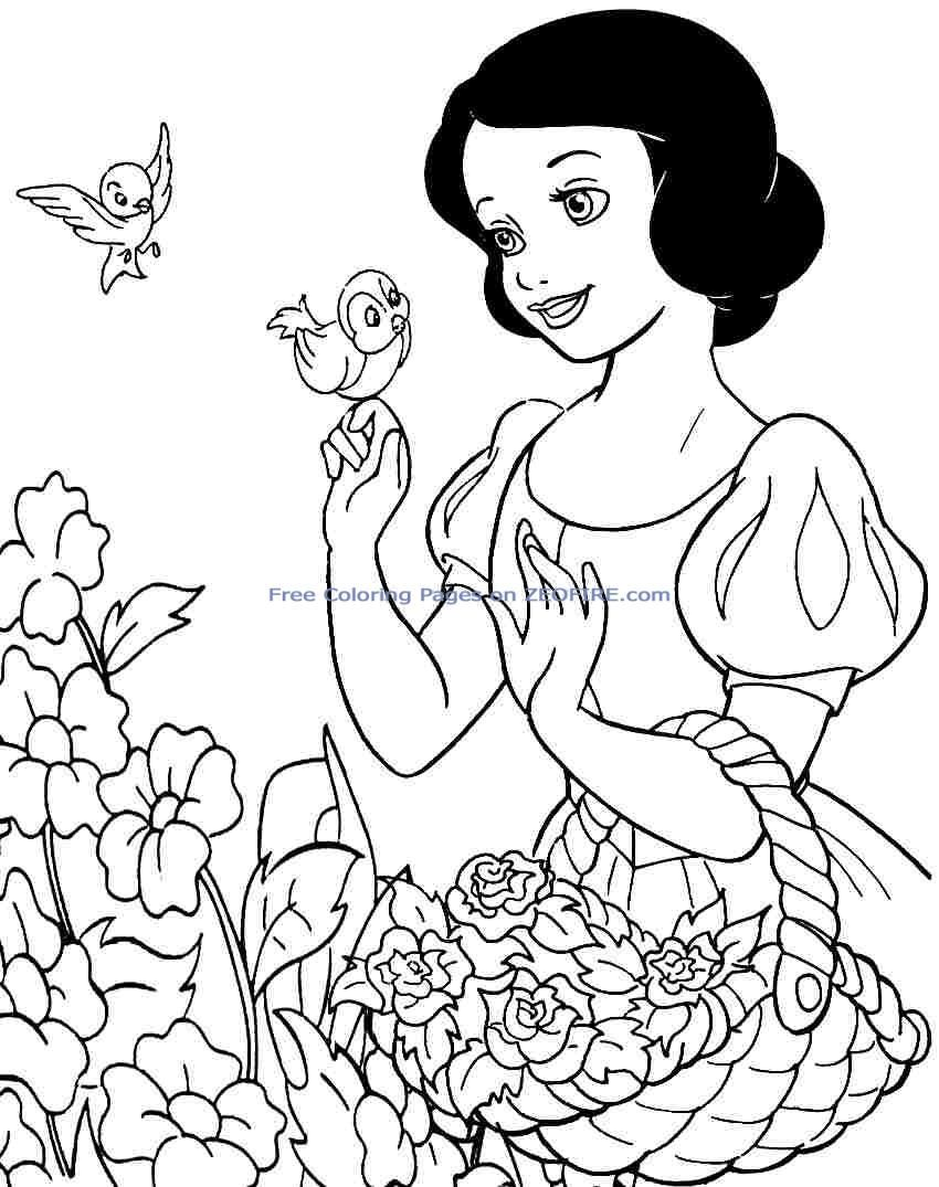 Disney Snow White Coloring Page | Snow White ~ Disney Coloring Pages ...