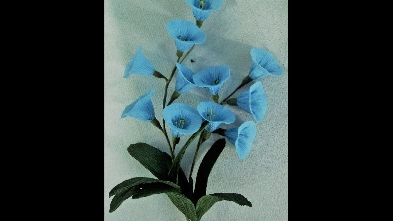 How To Make Morning Glory Flowers From Crepe Paper Paper Flowers Tissue Paper Flowers Crepe Paper Crafts