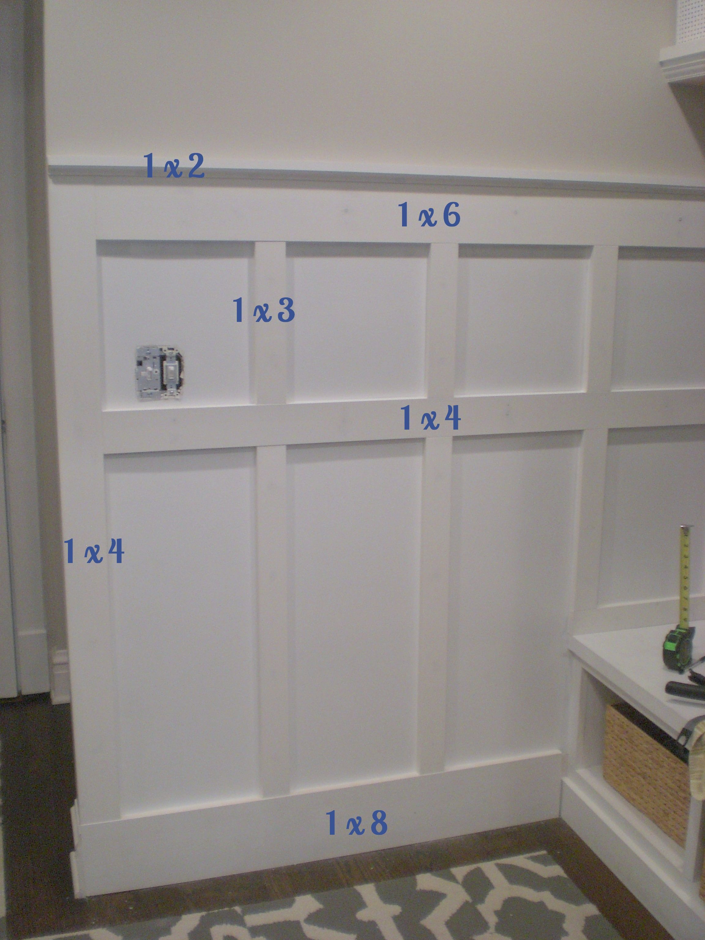 Board And Batten Wall DIY Bathroom DIY Home Decor