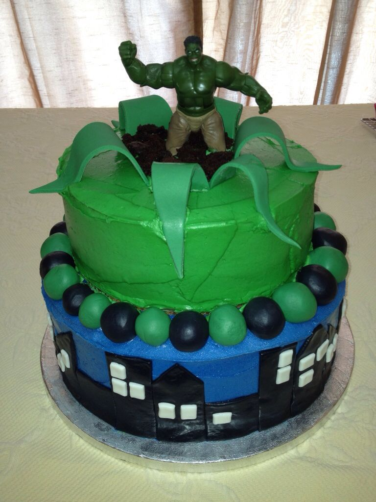 Incredible Hulk birthday cake Food Pinterest Hulk birthday