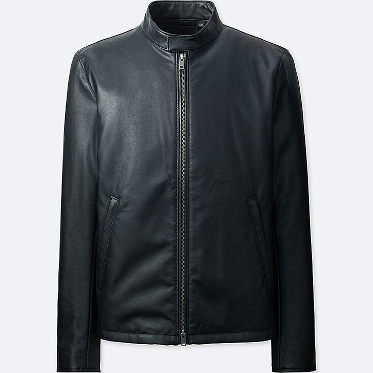 f0173d0c46d7c6 Men faux leather single-breasted jacket | Jackets | Pinterest ...