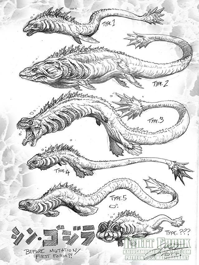 Developmental stages of SHIN GOJIRA by Matt Frank
