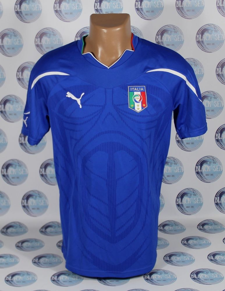 buy online a93bb 310b5 ITALY NATIONAL TEAM 2010 2011 HOME FOOTBALL SOCCER SHIRT ...