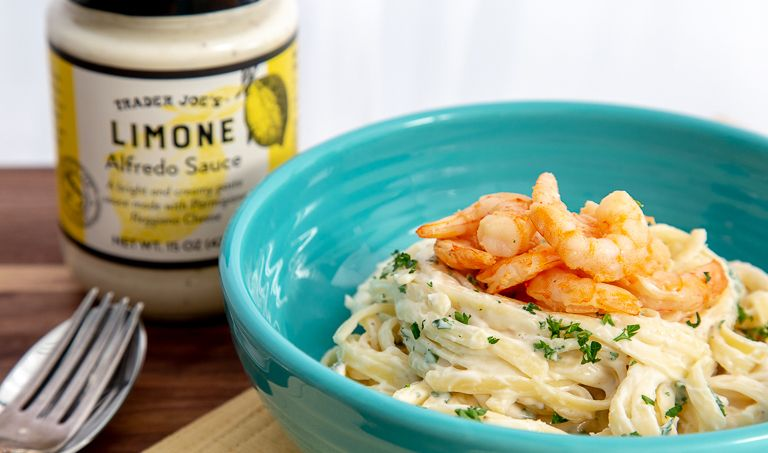 Inspired By A Well Known Well Loved Dish At An Equally Well Known Well Loved Italian Restaurant Here In L A Tra In 2020 Trader Joes Recipes Alfredo Sauce Recipes