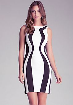 Colorblock Scuba Tank Dress - I love block color dresses that slim the figure. Anyone can wear this and look great.