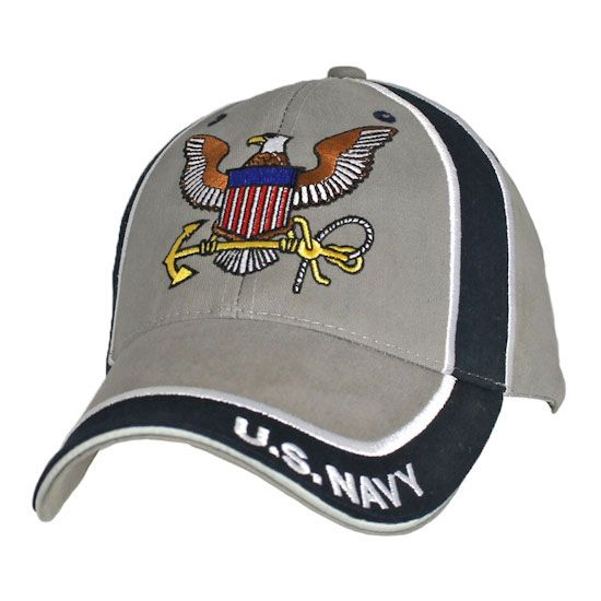 Navy with Navy Insignia O.D.G Officially License Military Hat Baseball Cap U.S