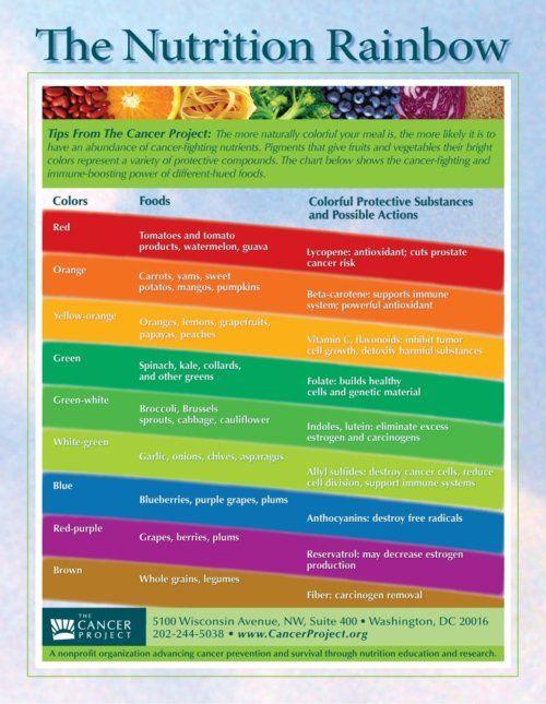 the nutrition rainbow
